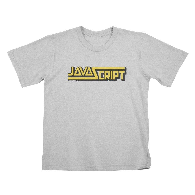 Retro JavaScript Kids T-Shirt by @keyframers Web Developer Merch