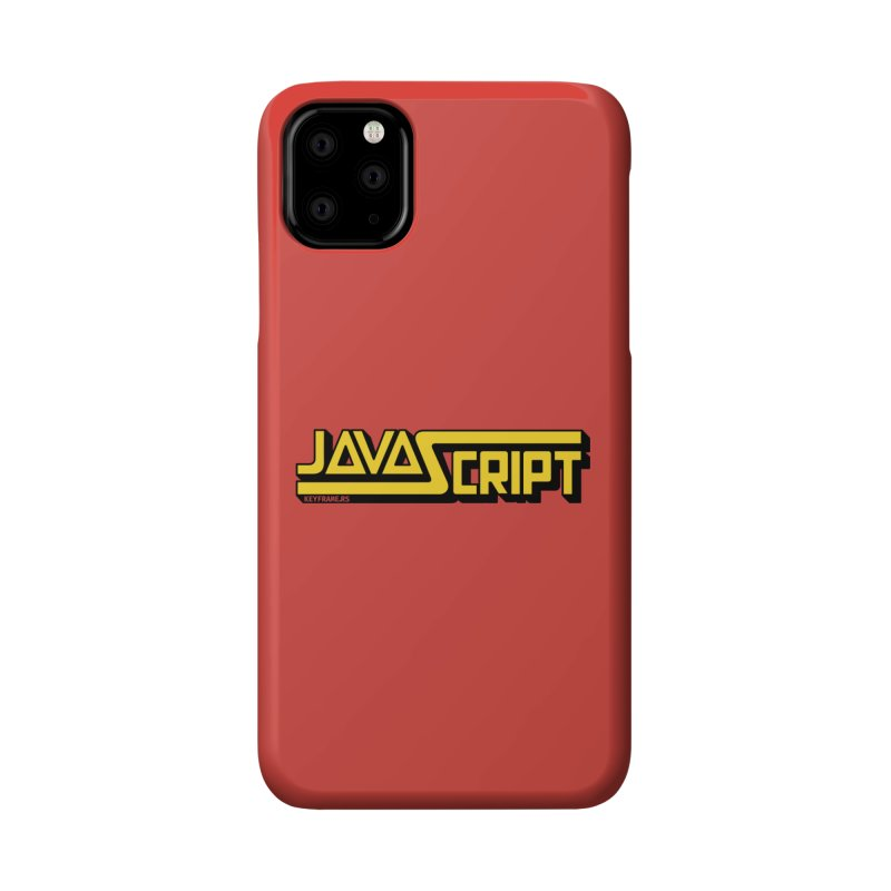 Retro JavaScript Accessories Phone Case by Web Developer Merch by the @keyframers