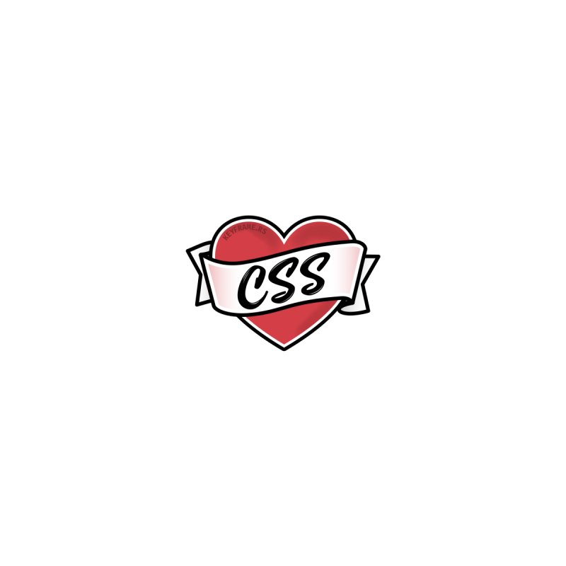 CSS Heart Men's T-Shirt by Web Developer Merch by the @keyframers