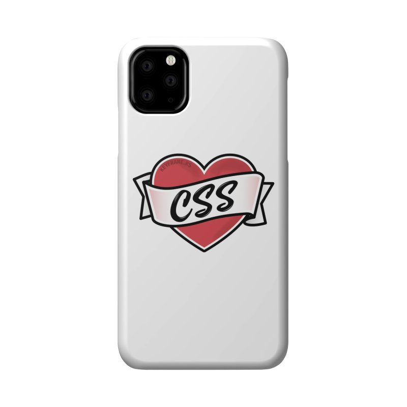 CSS Heart Accessories Phone Case by Web Developer Merch by the @keyframers