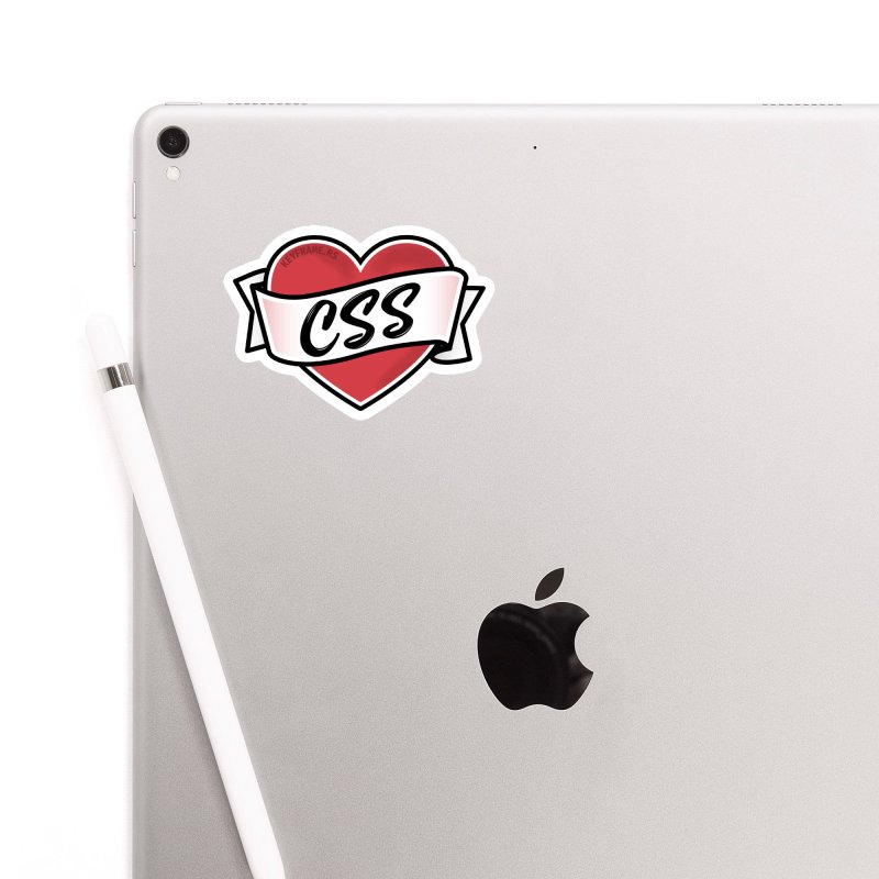 CSS Heart Accessories Sticker by @keyframers Web Developer Merch