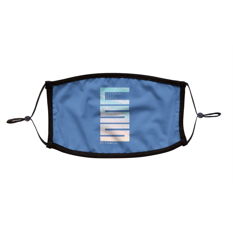 CSS Lines Accessories Face Mask by @keyframers Web Developer Merch