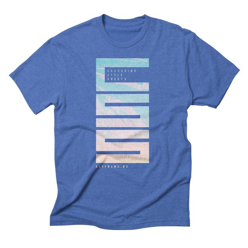 CSS Lines Men's T-Shirt by @keyframers Web Developer Merch