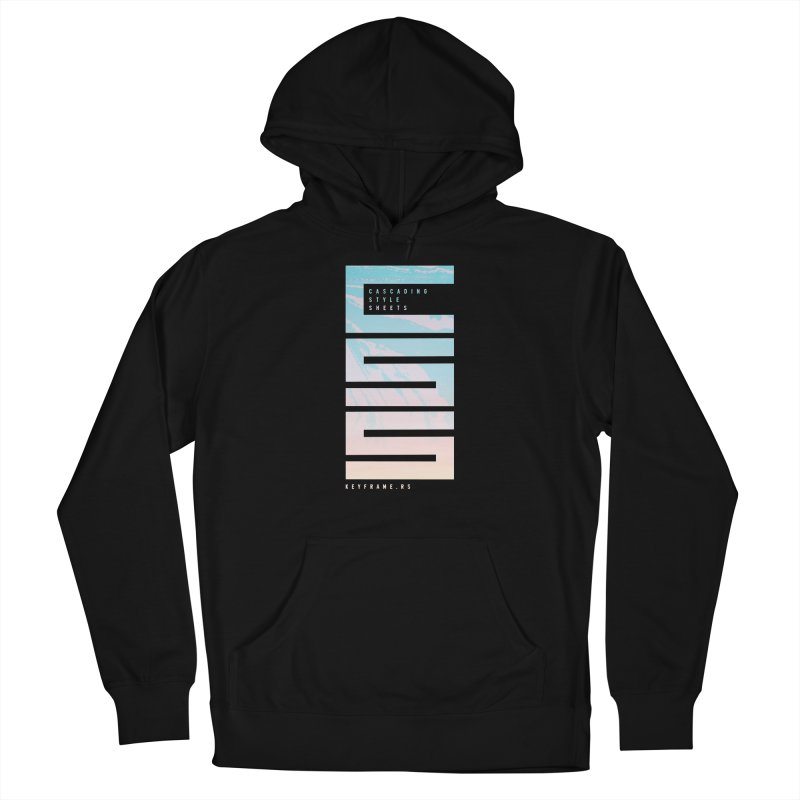 CSS Lines Men's French Terry Pullover Hoody by @keyframers Web Developer Merch