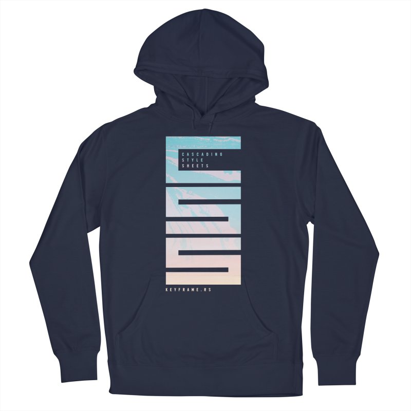 CSS Lines Women's French Terry Pullover Hoody by @keyframers Web Developer Merch