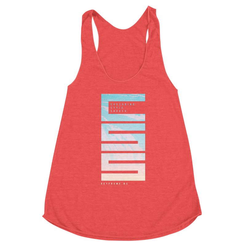 CSS Lines Women's Tank by @keyframers Web Developer Merch