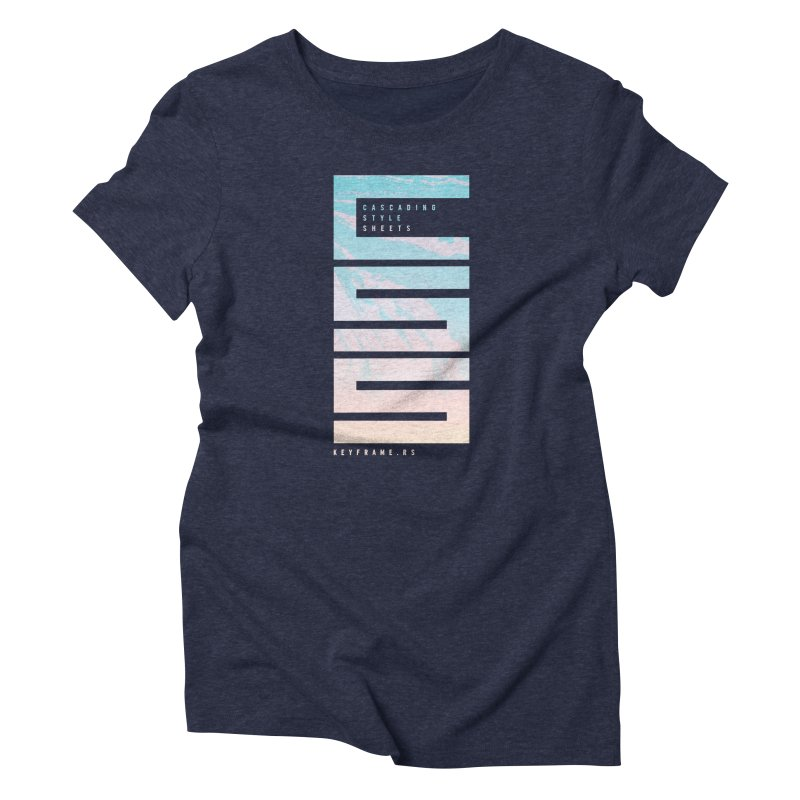 CSS Lines Women's T-Shirt by @keyframers Web Developer Merch