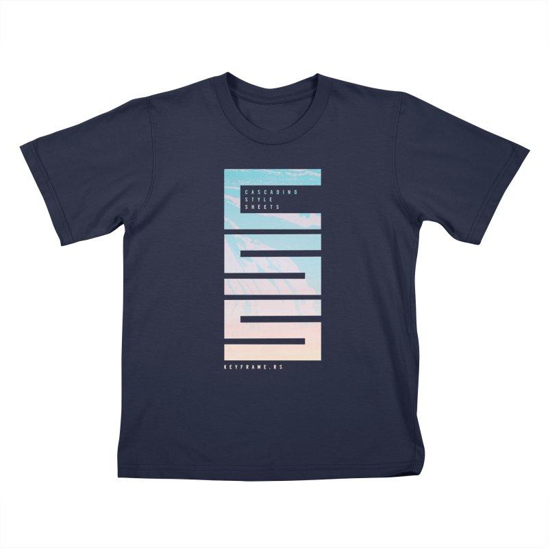 CSS Lines Kids T-Shirt by @keyframers Web Developer Merch