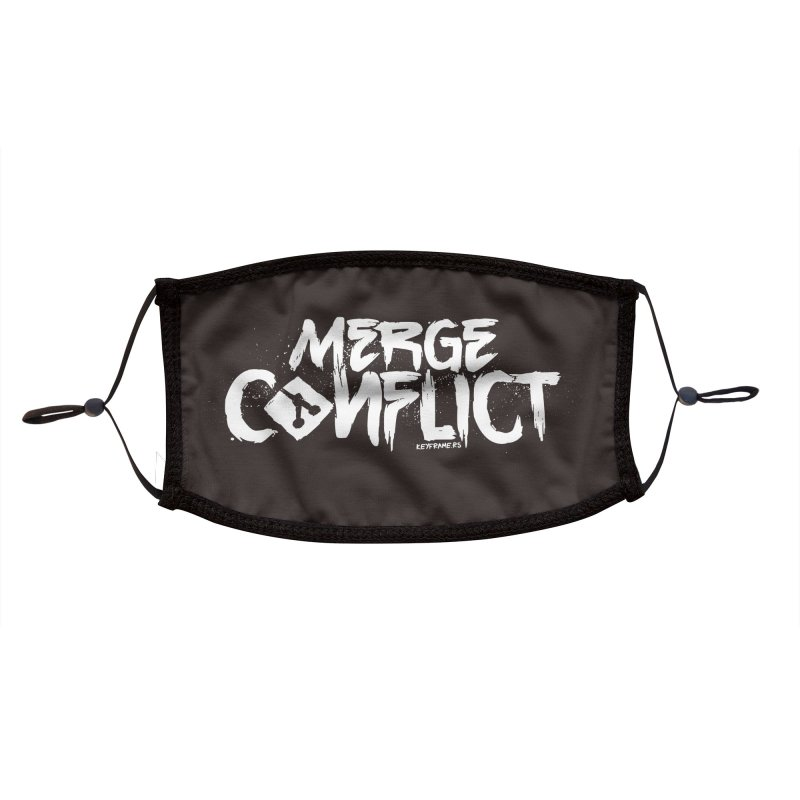Merge Conflict Accessories Face Mask by @keyframers Web Developer Merch