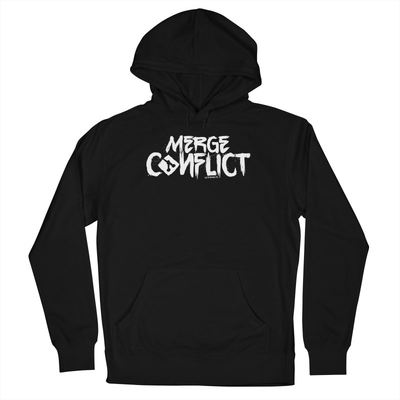 Merge Conflict Men's French Terry Pullover Hoody by @keyframers Web Developer Merch