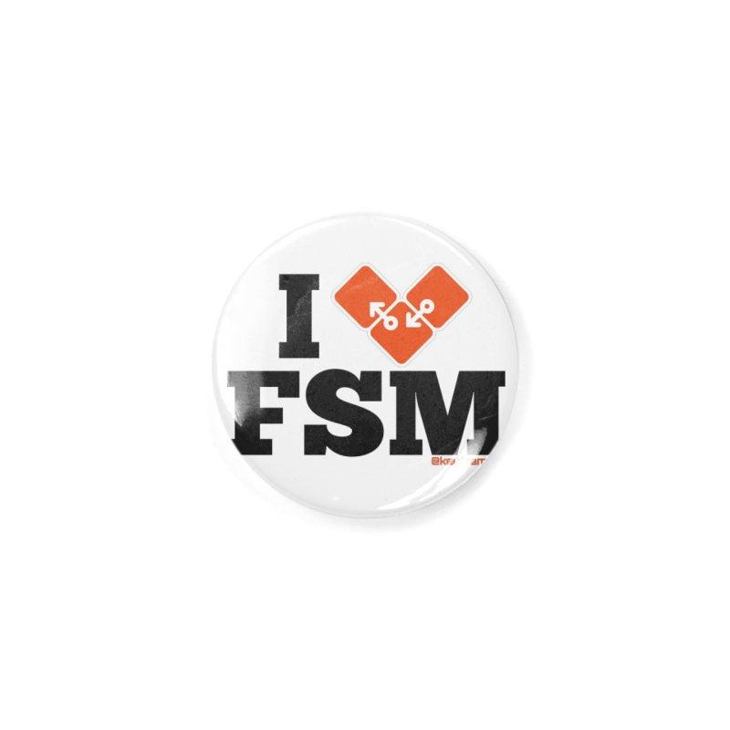 I Heart Finite State Machines Accessories Button by @keyframers Web Developer Merch