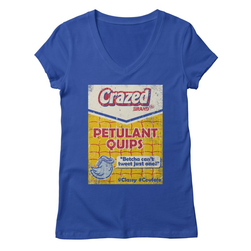 Petulant Quips Women's V-Neck by kg07's Artist Shop