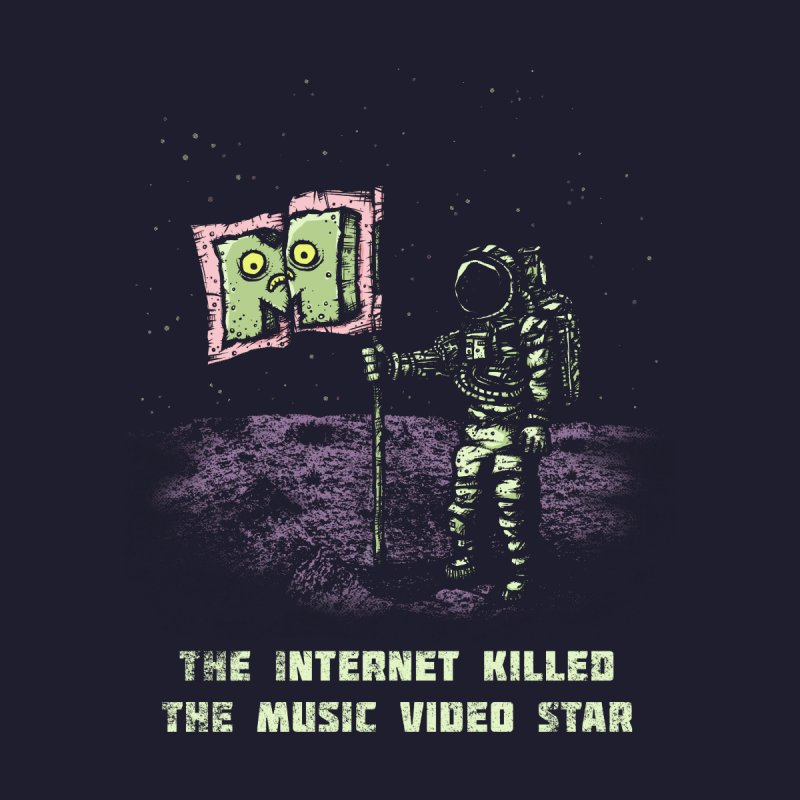 The Internet Killed the Video Star Women's Scoop Neck by kg07's Artist Shop