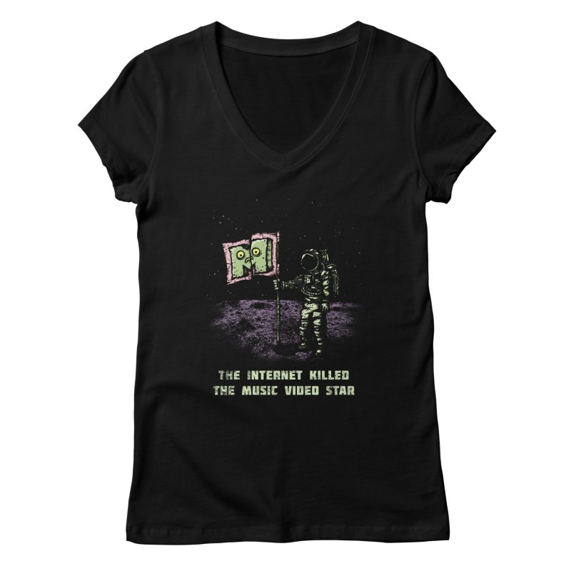 The Internet Killed the Video Star Women's V-Neck by kg07's Artist Shop
