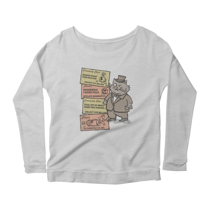 Fat Cat Women's Longsleeve T-Shirt by kg07's Artist Shop