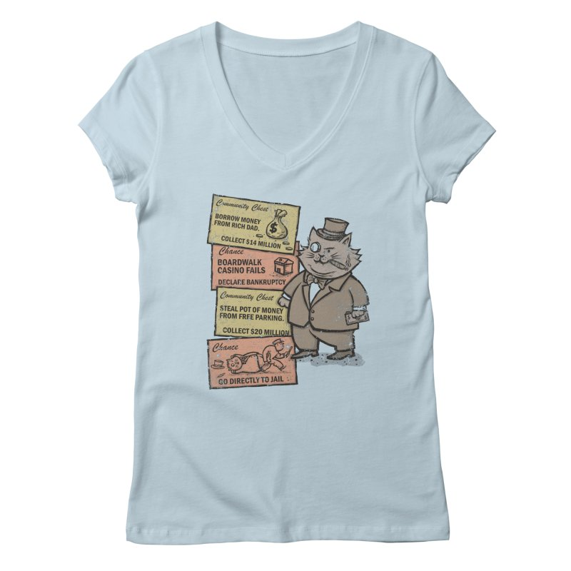 Fat Cat Women's V-Neck by kg07's Artist Shop