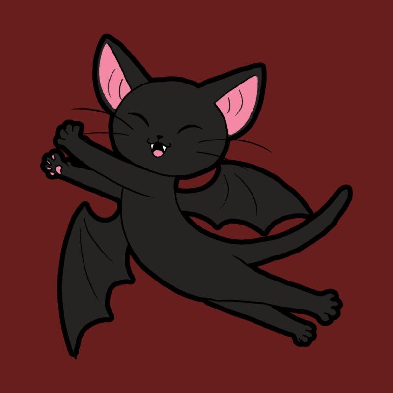 Bat Cat Men's T-Shirt by Kiernan Geary Art
