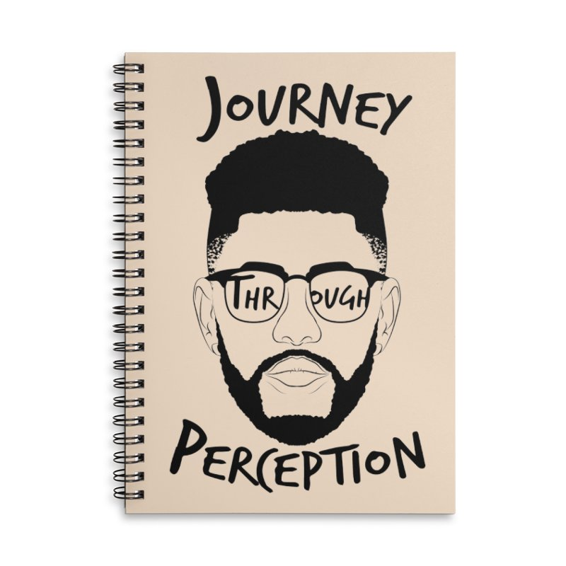 Journey Through Perception (Khaliq Vision) Accessories Lined Spiral Notebook by khaliqsim's Artist Shop