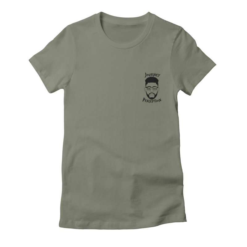 Journey Through Perception (Khaliq Vision) Women's Fitted T-Shirt by khaliqsim's Artist Shop