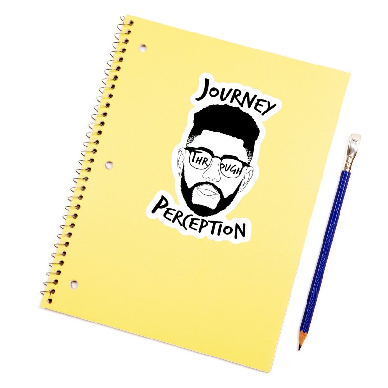 Journey Through Perception (Khaliq Vision) Accessories Sticker by khaliqsim's Artist Shop