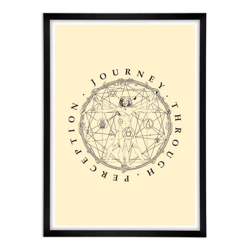 Journey Through Perception (Symbol) Home Framed Fine Art Print by khaliqsim's Artist Shop
