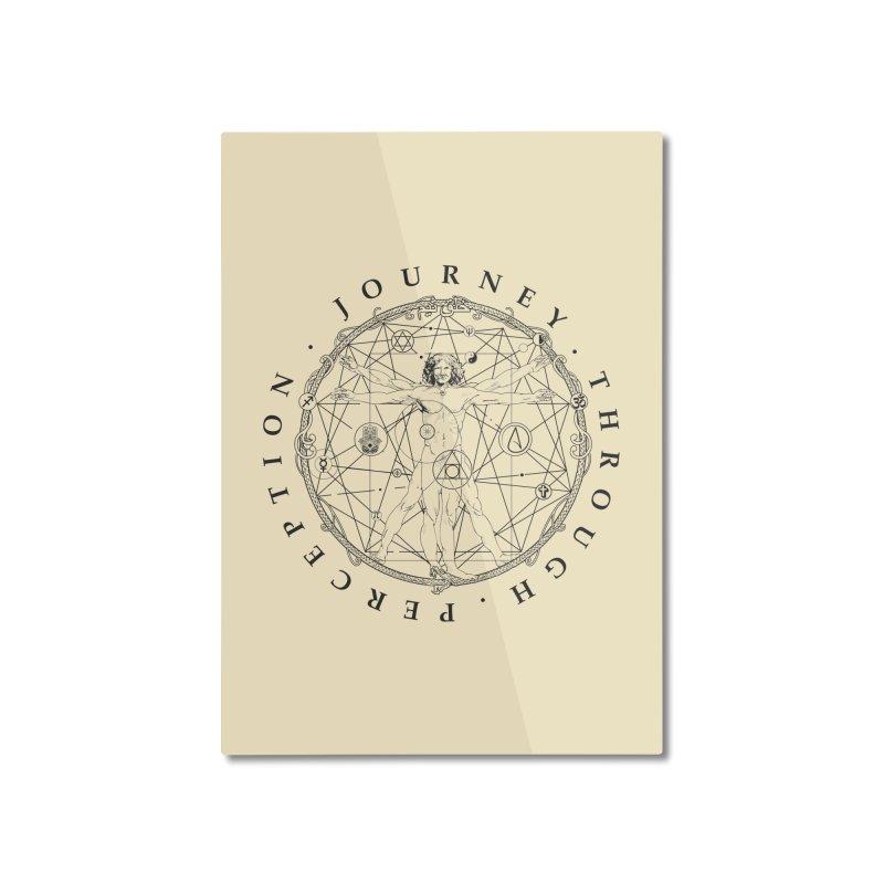 Journey Through Perception (Symbol) Home Mounted Aluminum Print by khaliqsim's Artist Shop