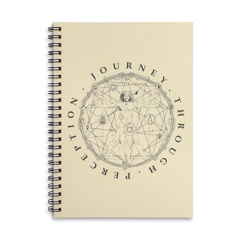Journey Through Perception (Symbol) Accessories Lined Spiral Notebook by khaliqsim's Artist Shop