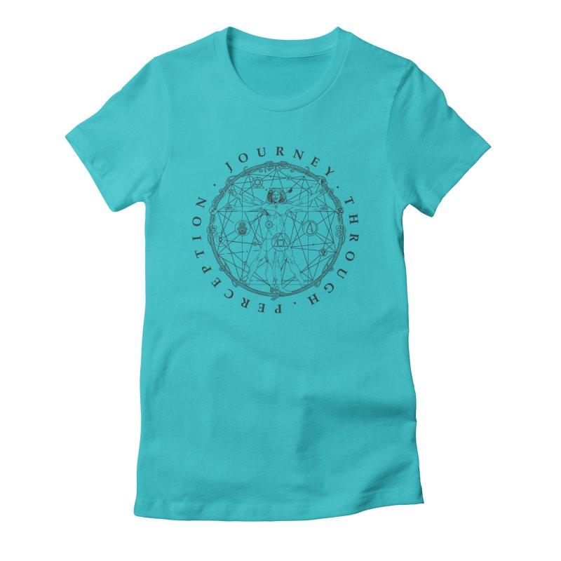 Journey Through Perception (Symbol) Women's Fitted T-Shirt by khaliqsim's Artist Shop