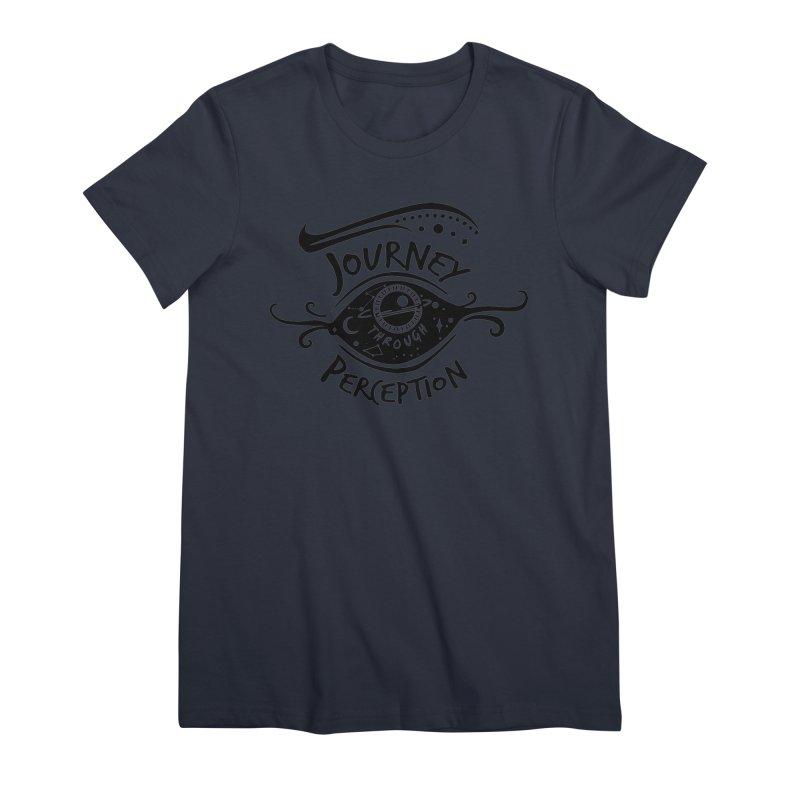 Journey Through Perception (Through the eye of the beholder) Women's Premium T-Shirt by khaliqsim's Artist Shop