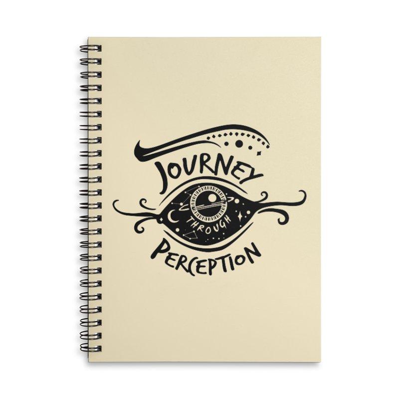 Journey Through Perception (Through the eye of the beholder) Accessories Lined Spiral Notebook by khaliqsim's Artist Shop