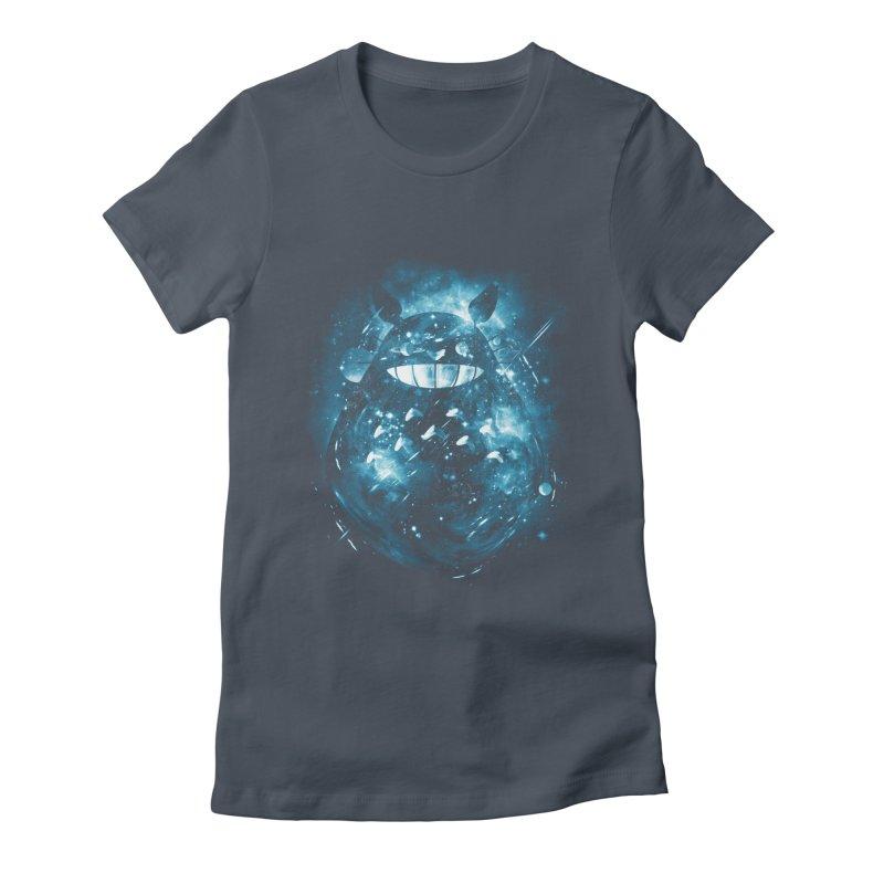 the big friend nebula Women's Fitted T-Shirt by kharmazero's Artist Shop