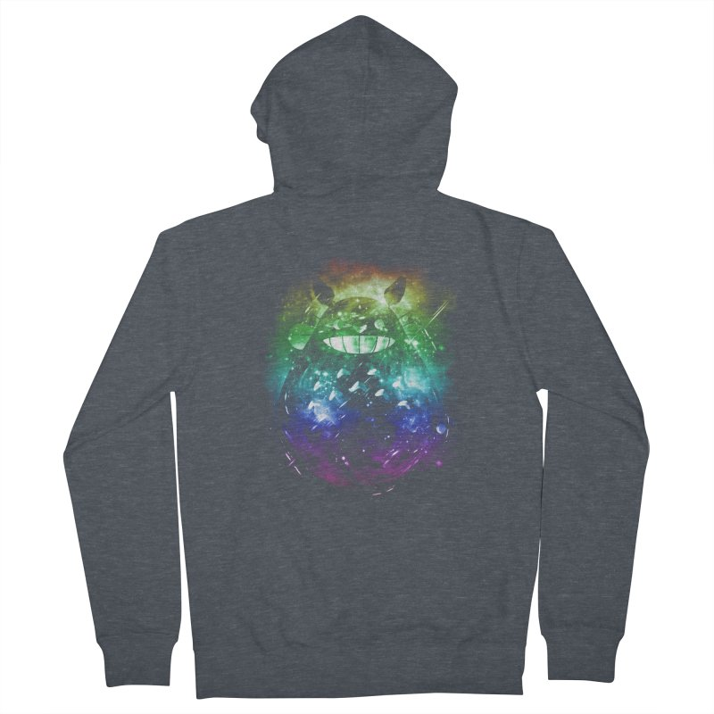 the big friend nebula - rainbow version Men's Zip-Up Hoody by kharmazero's Artist Shop