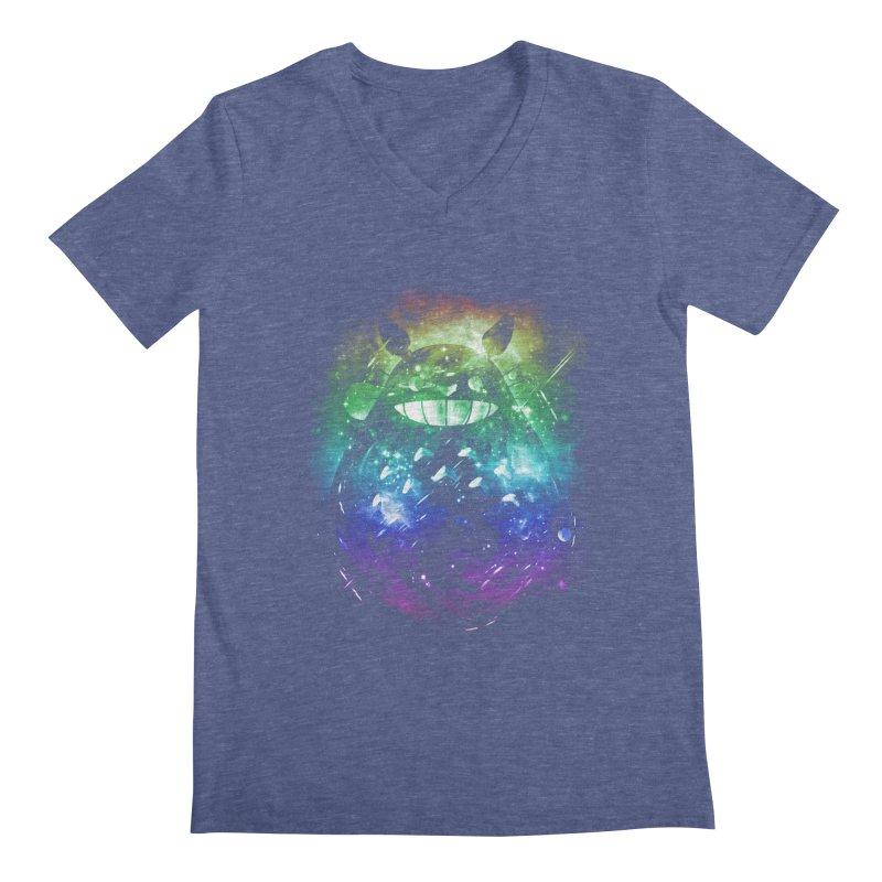 the big friend nebula - rainbow version Men's V-Neck by kharmazero's Artist Shop