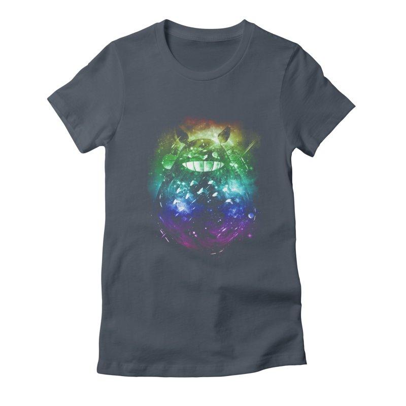 the big friend nebula - rainbow version Women's Fitted T-Shirt by kharmazero's Artist Shop