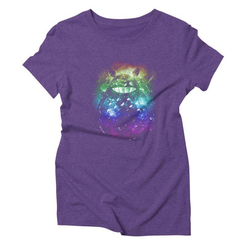the big friend nebula - rainbow version Women's Triblend T-shirt by kharmazero's Artist Shop