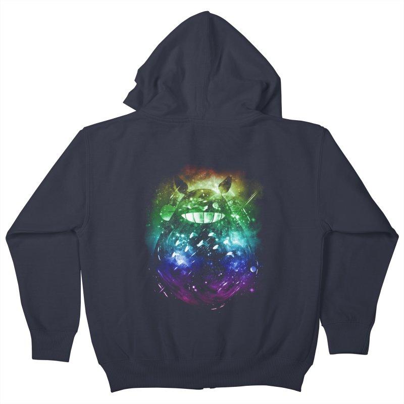 the big friend nebula - rainbow version Kids Zip-Up Hoody by kharmazero's Artist Shop