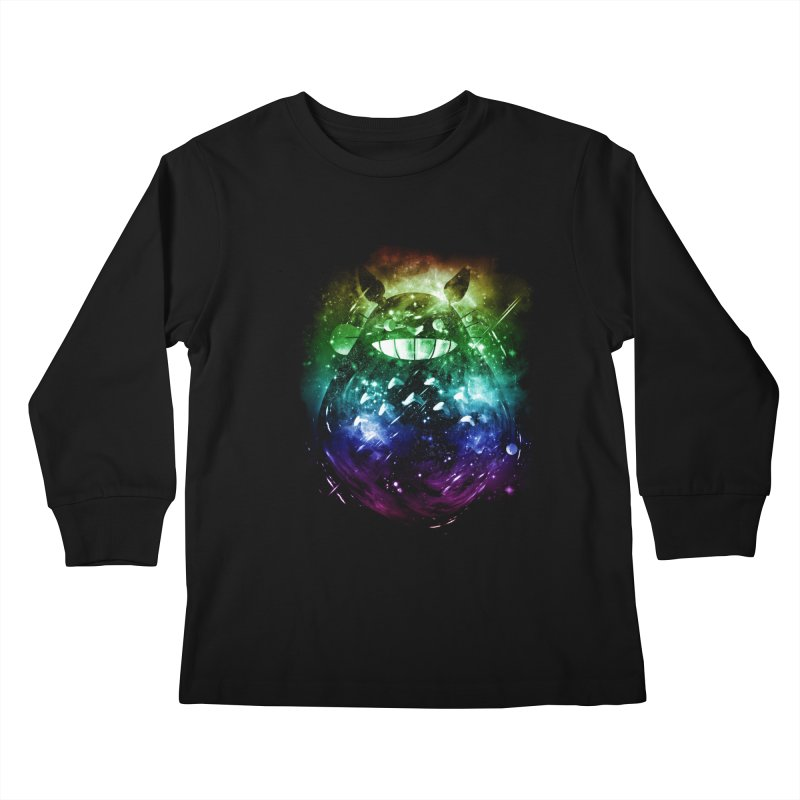 the big friend nebula - rainbow version Kids Longsleeve T-Shirt by kharmazero's Artist Shop