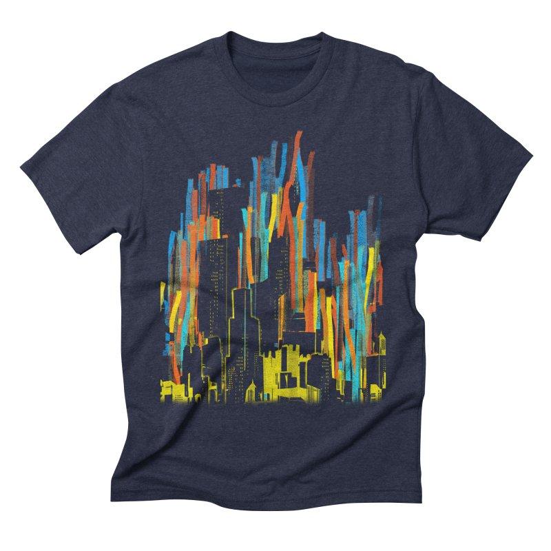 (s)trippy city Men's Triblend T-shirt by kharmazero's Artist Shop