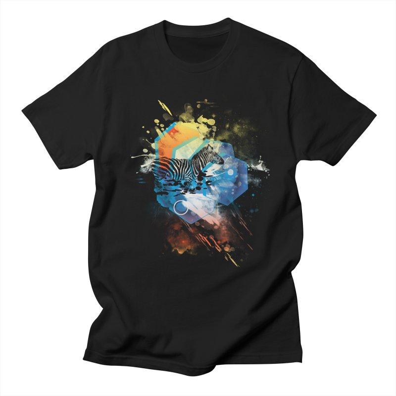 Zebra Splashed Men's T-shirt by kharmazero's Artist Shop