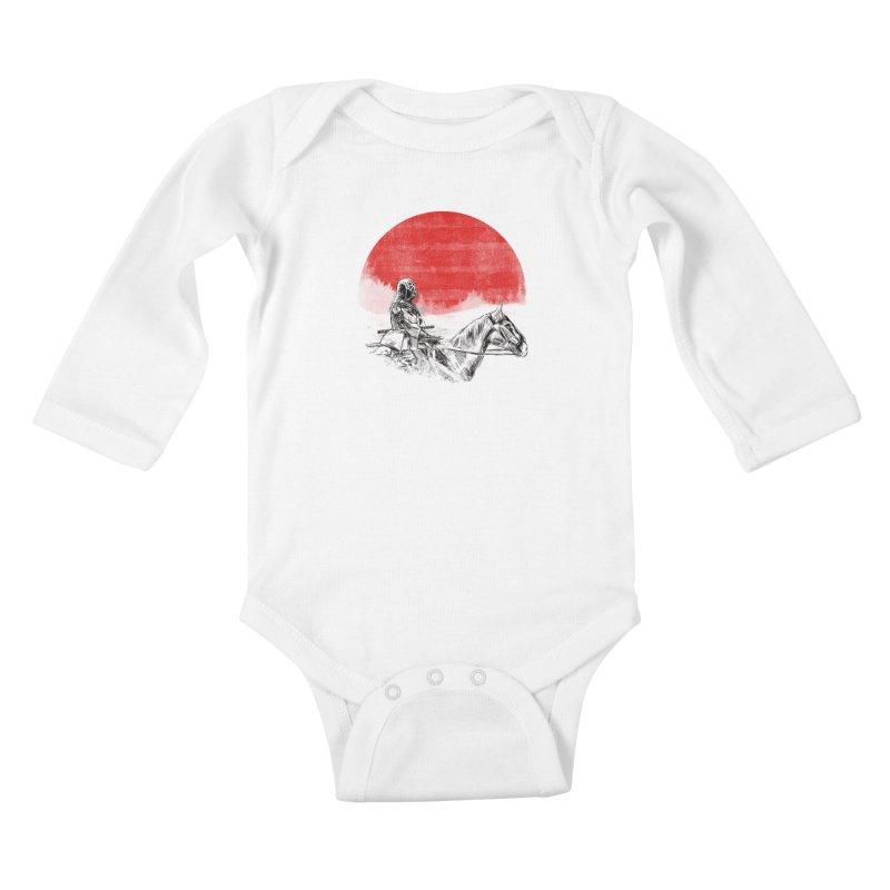 lost samurai Kids Baby Longsleeve Bodysuit by kharmazero's Artist Shop