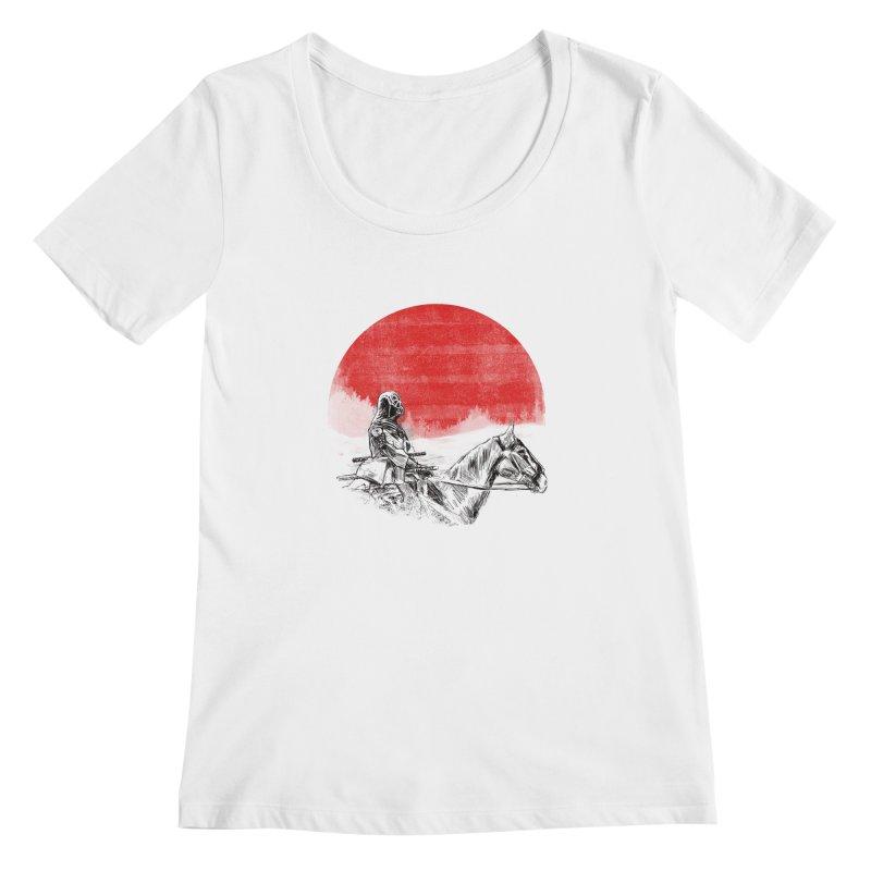 lost samurai Women's Scoopneck by kharmazero's Artist Shop