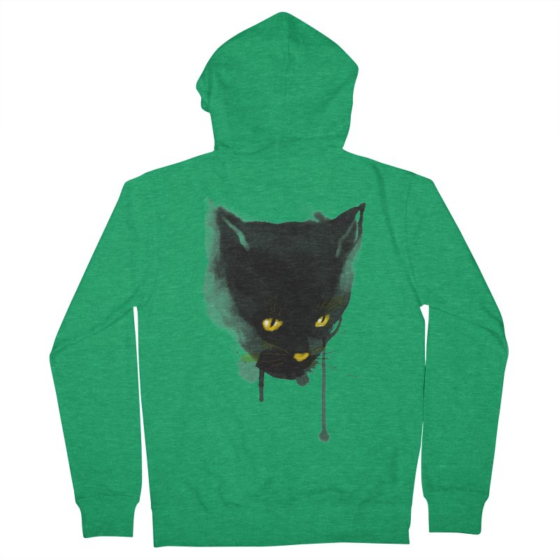 sumi cat Men's Zip-Up Hoody by kharmazero's Artist Shop