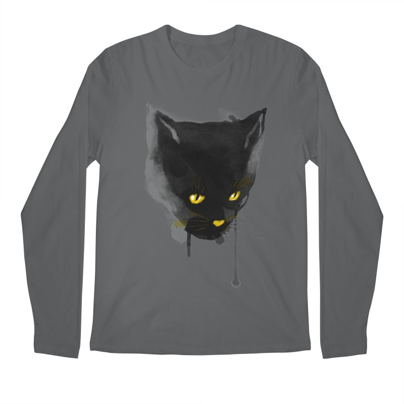 sumi cat Men's Longsleeve T-Shirt by kharmazero's Artist Shop