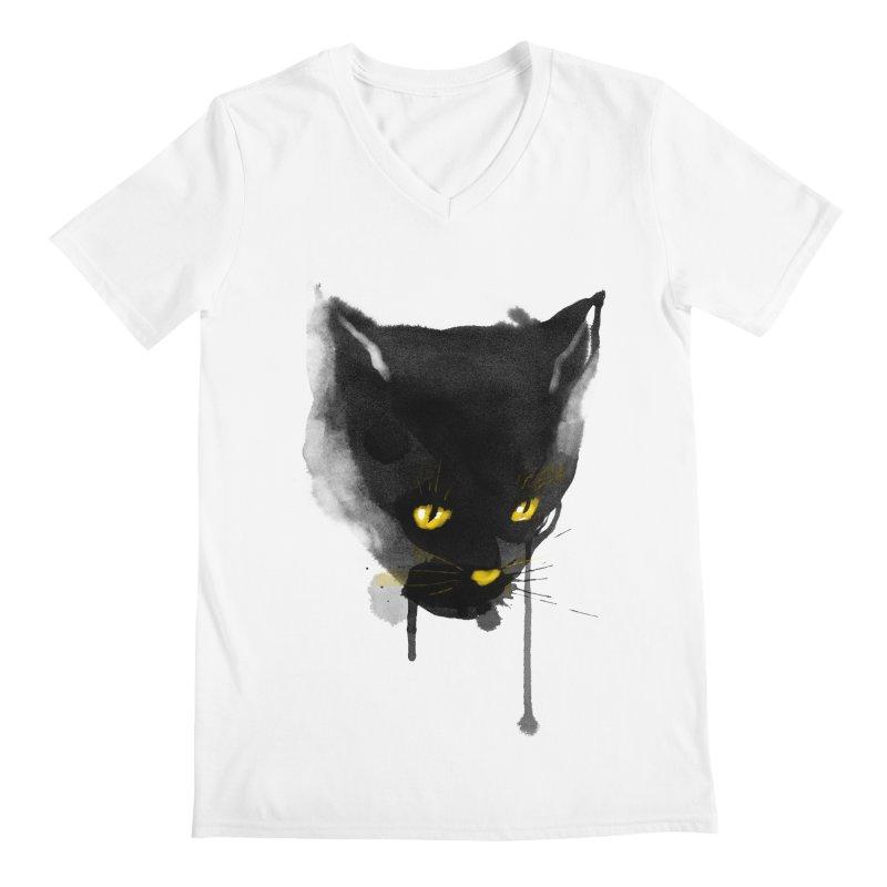 sumi cat Men's V-Neck by kharmazero's Artist Shop