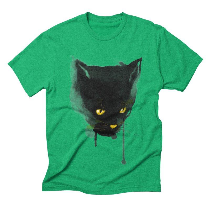 sumi cat Men's Triblend T-shirt by kharmazero's Artist Shop