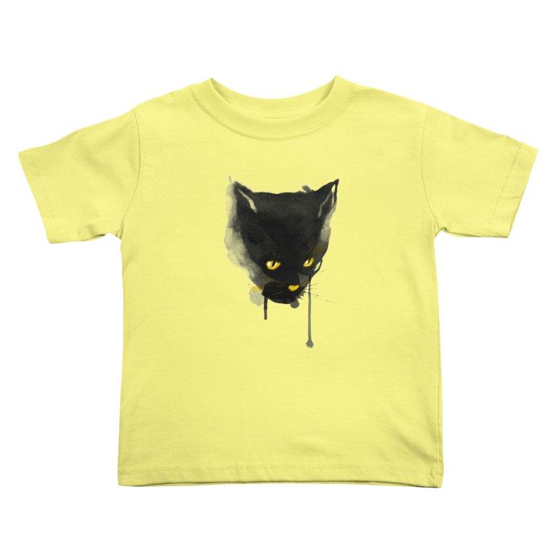 sumi cat Kids Toddler T-Shirt by kharmazero's Artist Shop
