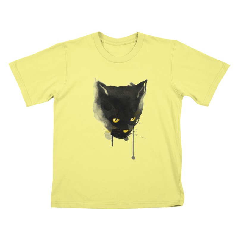 sumi cat Kids T-shirt by kharmazero's Artist Shop