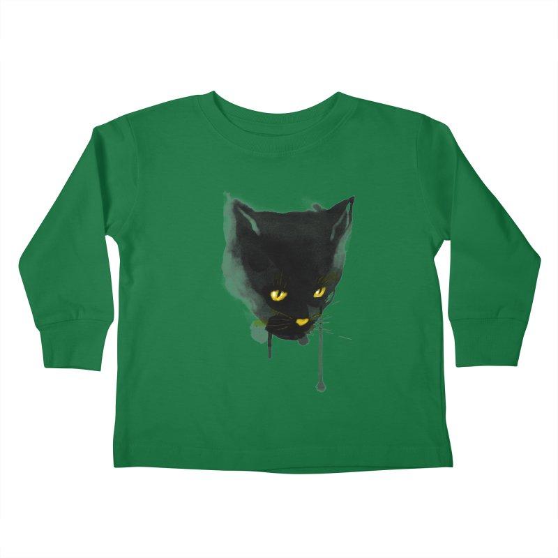 sumi cat Kids Toddler Longsleeve T-Shirt by kharmazero's Artist Shop