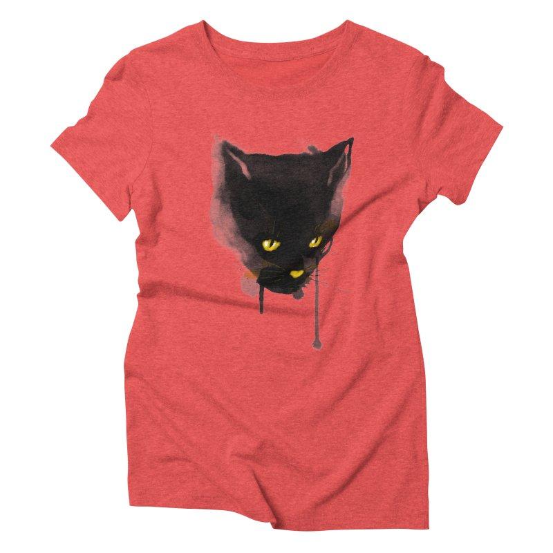 sumi cat Women's Triblend T-shirt by kharmazero's Artist Shop