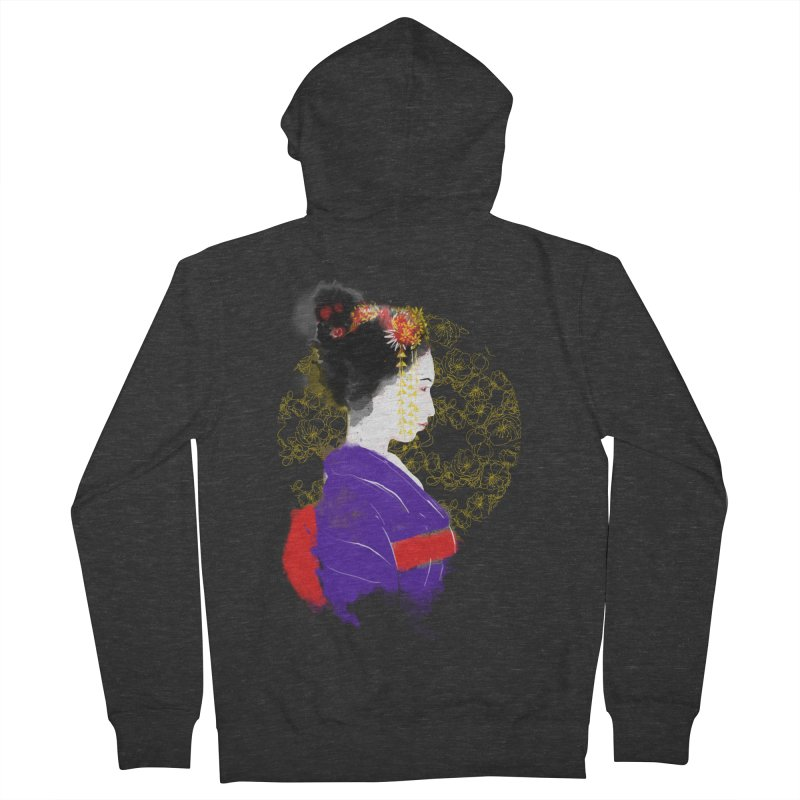 geishartistic Men's Zip-Up Hoody by kharmazero's Artist Shop